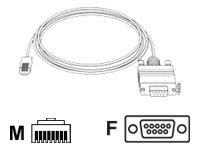 Cisco Kabel seriell - RJ-45 (M) bis DB-9 (W)