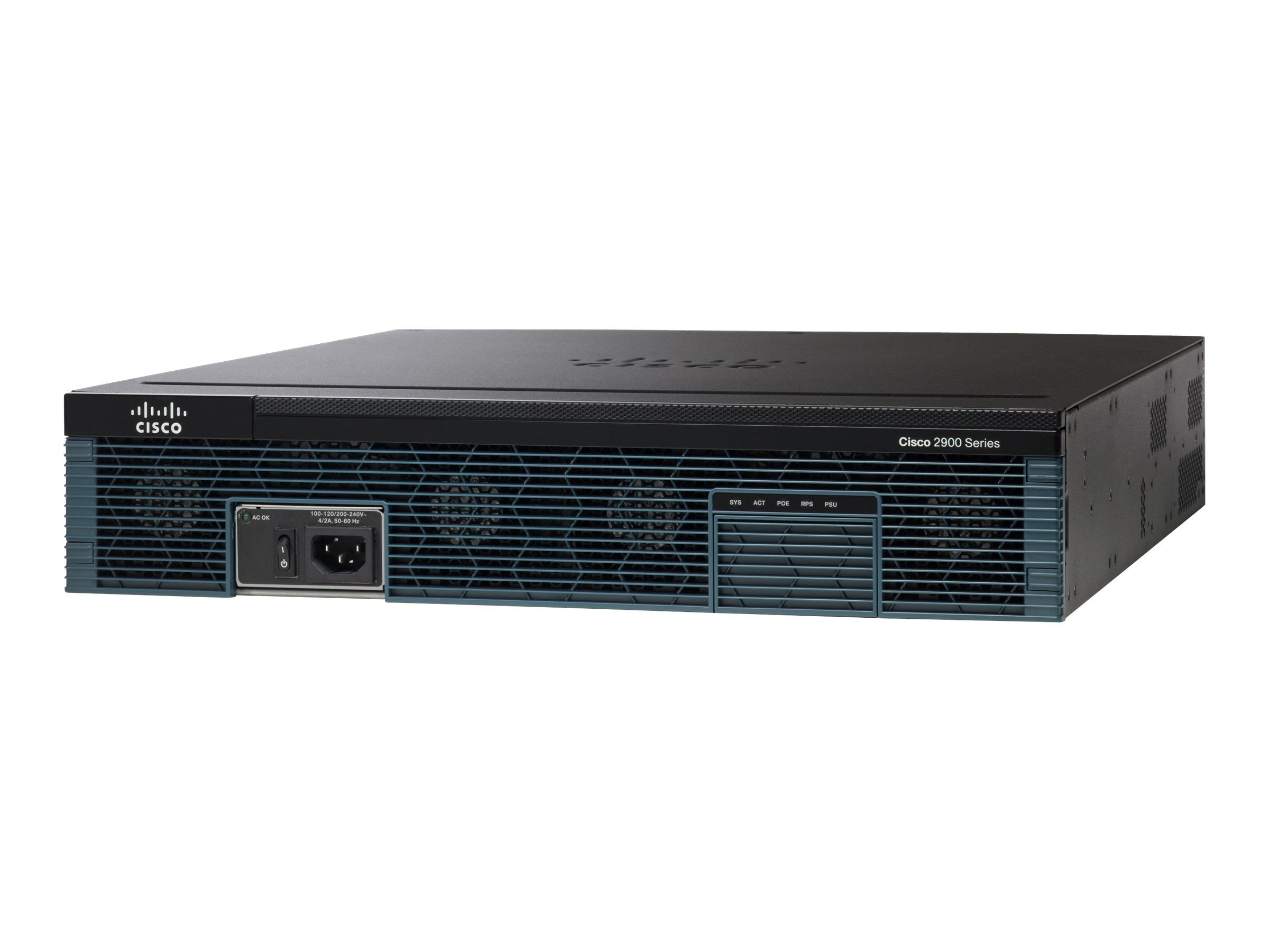 Cisco 2921 - Router - GigE - WAN-Ports: 3 - an