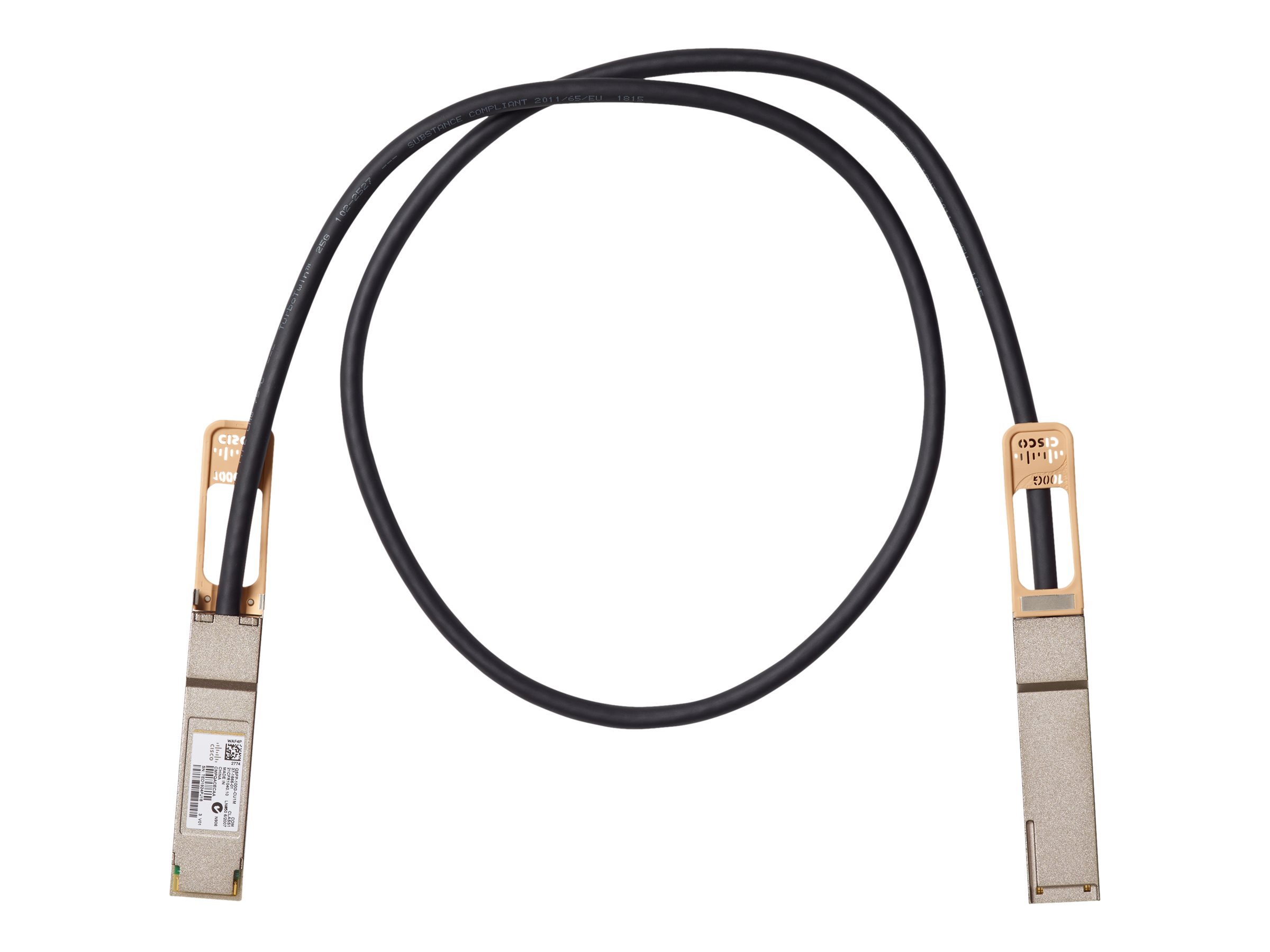 Cisco Copper Cable - 100GBase Direktanschlusskabel - QSFP (M)