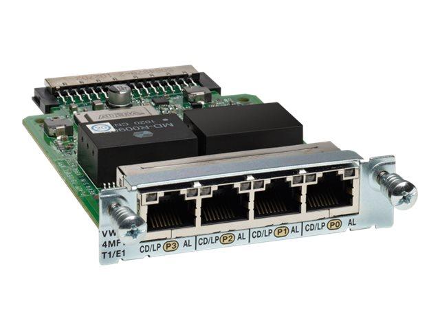 Cisco Third-Generation 4-Port T1/E1 Multiflex Trunk Voice/WAN Interface Card