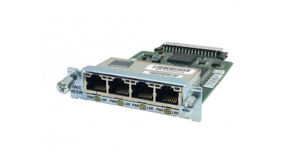 Cisco EtherSwitch HWIC - Switch - managed - 4 x 10/100